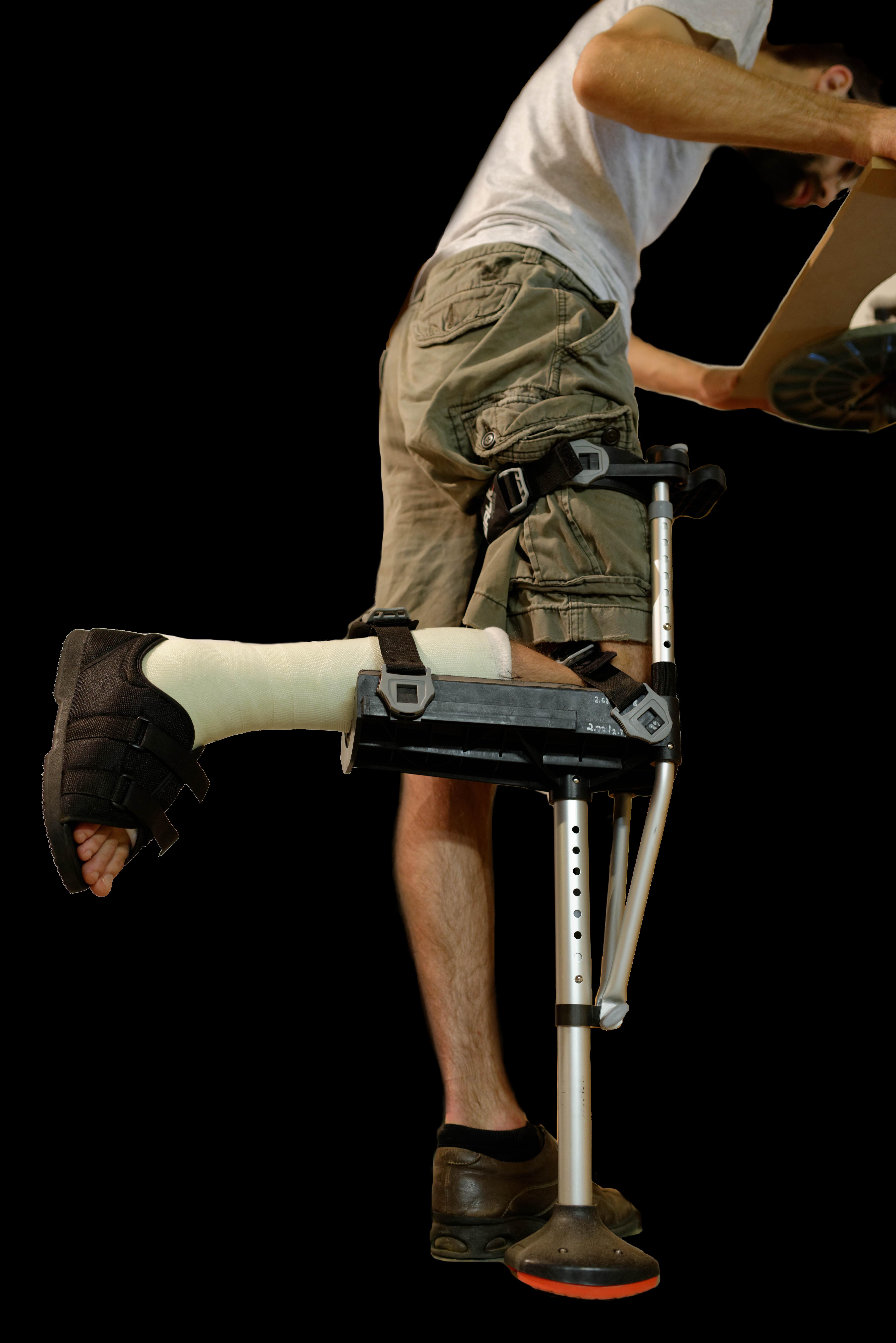 Throw crutches and walk