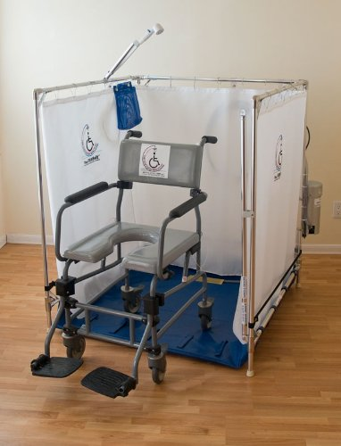 Fawssit Handicapped Shower Stall For Reclining Wheelchairs