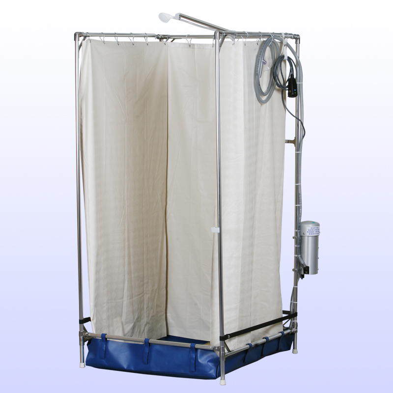 Tall Hazmat Portable Shower Stall Enable Mobility