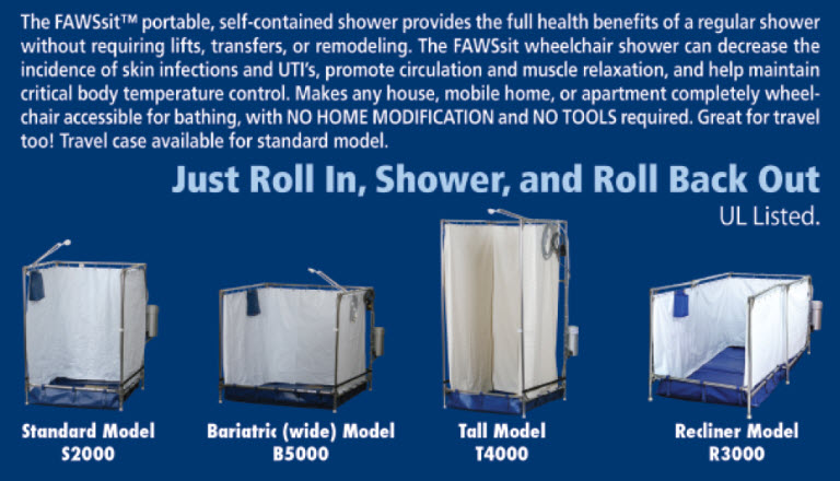 Tall Hazmat Portable Shower Stall - Enable Mobility