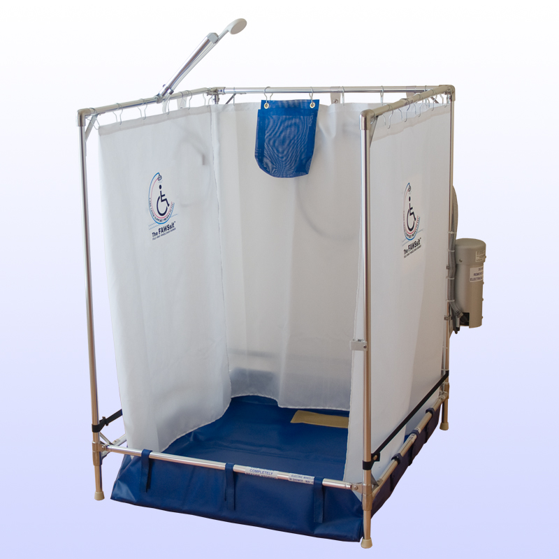 standard portable wheelchair shower stall enable mobility